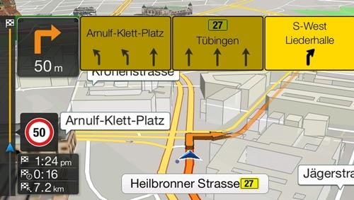 Alpine INE-W997D_har innebygget navigasjon med TMC
