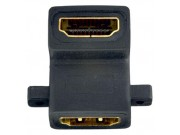 in-akustik HDMI Dobbelkobling 90 grader
