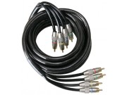 dynaBel 4 kanals signalkabel 5m, sort